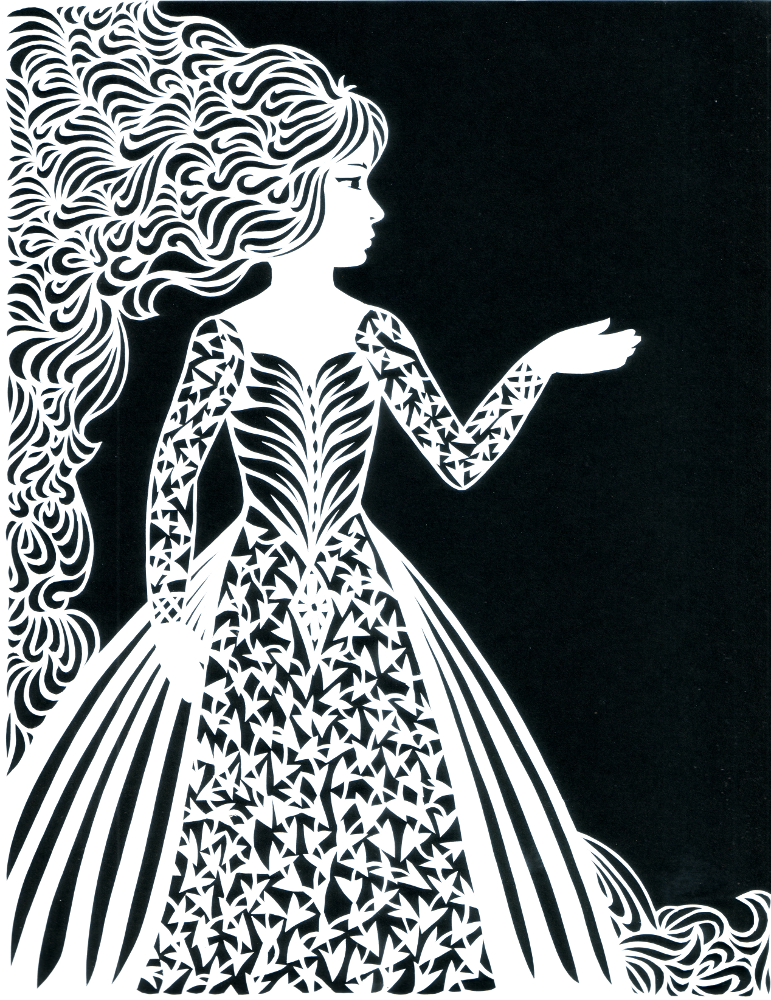 Ivy Lady - Paper Cut Art picture